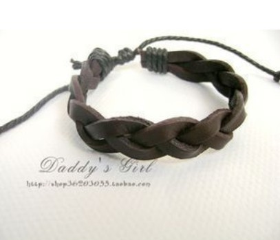 Black Punk Style Fashion Leisure Leather Bracelet Jewelry BB-70(China (Mainland))