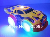Free shipping 2013 cheapest and popular light music automatic steering electric model car for children