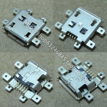 Free shipping 10x New DC Power Jack Micro USB  Port Plug Socket for netbook/ tablet/ MP4/MP5 /Motorola V8 ZN5 A1600 E8 Q9 U9 V9