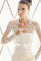 Long Sleeve Lastest Lace Appliques 2012 Fashion Wedding shawl Wrap Bolero Jacket