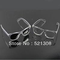 1PC/LOT Wayfarer Style Transparent Mirror Reflective Frame Sunglasses