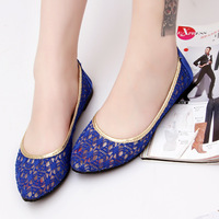 New arrival 2013 sweet princess lace cutout casual flat heel flat sandals casual shoes network women's shoes