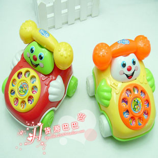 Min.order is $10 Large ring backguy smiley phone belt diabolo dial phone baby educational toys