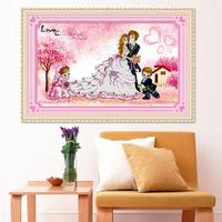 3d three-dimensional married wedding cross stitch lifetime print set painting