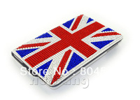 New Bling Diamond Crystal UK British Flag 360 Degree Rotating Protective Stand Leather Case For Apple Ipad Mini Smart Cover K115