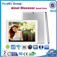 8inch Ainol NOVO8 Discover Quad Core Tablet PC Android 4.1 Jelly Bean 2GB RAM 16GB ROM Dual Camera Bluetooth