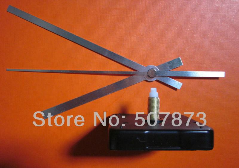 100set/lot NEW style silver color hands Quartz Clock Movement Kit Spindle Mechanism shaft 20mm Wholesale BJ024(China (Mainland))