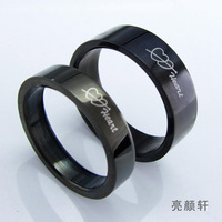 Lovers ring fashion a pair of black