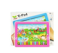 DHL fast 36pcs/Lot Kid's Educational Toys Y-Pad Farm Animal sound English Tablet Computer Learning Machine Touch Screen