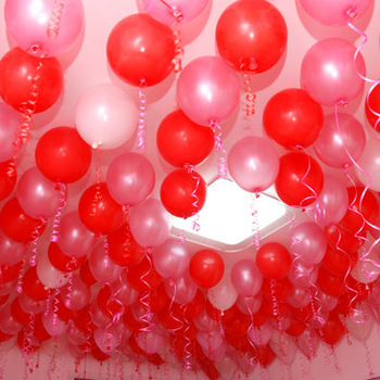 free shipping Thickening 10 pink red pearl balloon 100 latex balloon wedding decoration