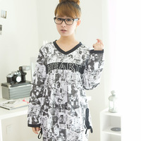 Sleepwear female spring and autumn long-sleeve sleepwear women's novelty long-sleeve lounge set