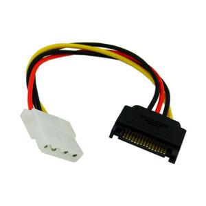 Serial ATA SATA 15 Pin to Hard Disk 4 Pin IDE Power Supply Cable Connector 10cm(China (Mainland))