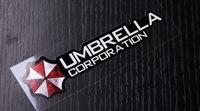Free Shipping Car stickers Biochemical Resident Evil handlebar door handle umbrella  sticker  decal for all car Jeep SUV
