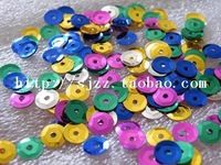 PET sequin sequined material scattered pieces 6mm multicolor music film DIY clothing footwear accessories