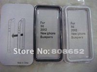 Free shipping for iphone 5 5g bumper Newest Soft TPU bumper frame case for iphone5 with retail package 100pcs/lot