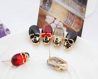 Accessories fashion vintage punk crystal skull earrings stud earring accessories