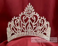 beauty pageant rhinestone crown tiara queen princess headdress mo-084