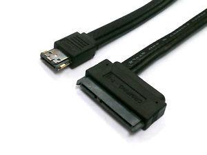 Dual Power eSATA 5V 12V to SATA 22Pin Data Cable 1M(China (Mainland))