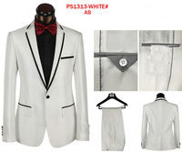 2014 Fashion New White Prom Suits For Men Brand Business And Wedding Suit (Coat+Pants)Top Quality