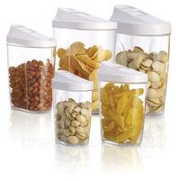 Free shipping 5pcs plastic food storage container bottle spice jars candy jar organization sugar organizer novelty households