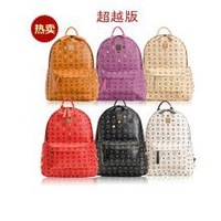 free shipping fashion exo student  punk bag   student school bag rivet backpack hot selling