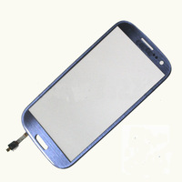 For Samsung Galaxy i747 t999 Siii S3 Screen Digitizer Lens Front Glass Blue