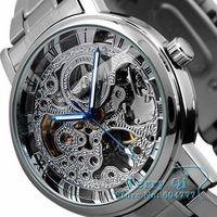 New 2014  Luxury Watch Skeleton Watch Men Mechanical Auto Men's Watches Sport Wristwatch Free Ship