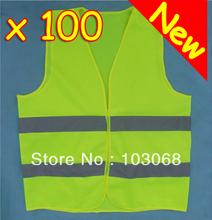 New arrival Hot Sale 100 HI VIS HIGH VISIBILITY SAFETY VEST WAISTCOAT FOR TRAVEL KIT  EN71(China (Mainland))