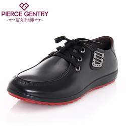 Autumn new arrival cowhide lacing metal accessories men's single shoes a726675(China (Mainland))