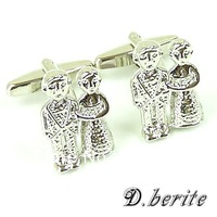 CW198 Brand New Men's Jewelry Shirt Cuff Link  Silver  Wedding Couple Cuff links Classic Pair of Cufflinks Gift Box Wholesale