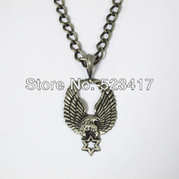 Free ship New  trendy eagle pendant goth punk rock rough chain necklace men stylish necklace heavy metal hip pop necklace