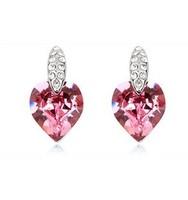 Free shipping Fashion Women austria crystal earrings stud earring birthday gift