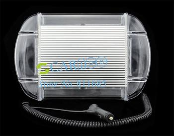 """New design 24LEDs Emergency Warning Strobe Light Waterproof Magnetic LED warning lightbar High Power 13"""" White+Amber Light 14087"""
