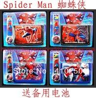 2013 SpiderMan Cartoon Child Quartz Wrist Watch/Clock with One Purse/Wallet/Pocket for Boys, Kids, Children Birthday Gift