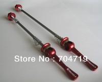 Ti/Titanium Axle Road Bike Hub QR Wheel Quick Release Skewers - red