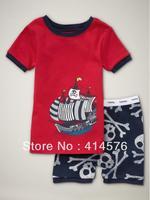 2013 Мода! Оптовая Детские / Дети 100% хлопок ребра короткий рукав пижамы 6 комплектов / серия (6 размеров)