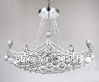 New Modern Clear K9 Crystal Pendant Lamp Living Room Light Dia 63.5cm H 90cm