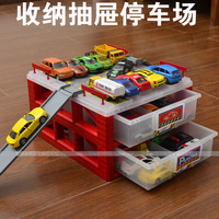 Toy set tomy o.l mini toy car storage box drawer box