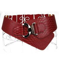 2014 fashion ultra pattern belts female women's leather wide belt brand ladies elastic belt