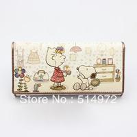 Best Selling!!2013 new fashion ladies cartoon print wallet women medium-long purse Card Holder Case Free Shipping