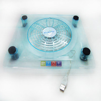 laptop cooling pad with fan and blue led light free shipping