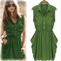 Free Shipping Woman Fashion Hollywood Stars Dress Ladies' Sexy Slim Fit Quality Dress  Green/Blue Plus Size S-XL MG-061