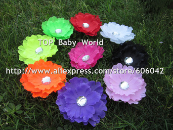 "Hot selling 4""fluorescence color peony flower. hair flower hair accessory WITHOUT CLIP  70pcs/lot,free shipping"