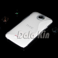 For htc   one x mobile phone case s720e s set of clean water protective case mobile phone case transparent white