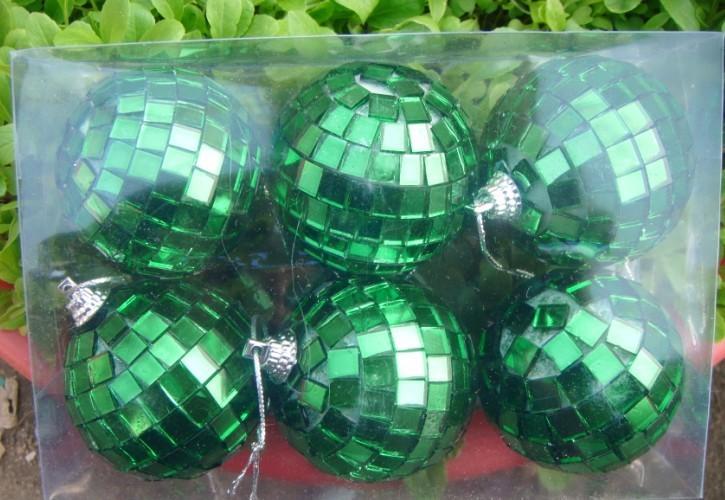 Multicolour mirror ball car hangings glass lens ball decoration ball christmas decoration(China (Mainland))