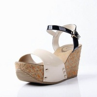 2013 women's summer sandals open toe wedges female shoe female high-heeled shoes 6906807