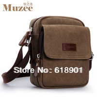 Free shipping high quality 2013 fashion casual mini canvas messenger bag for man