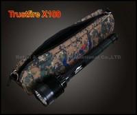 1PCS Trustfire x100 high power hunting Flashlight. 7x CREE XM-L T6 LED 8000Lm High Power torch,powered by 3/4x 26650 Battery