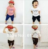 Free Shipping&5pcs/lot!baby boy clothing 2013,toddler boys clothing,summer tops,korean kids clothes wholesale,baby dress