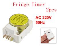 AC 220V 50Hz DBY Series 4 Terminals Refrigerator Defrost Timer 2pcs